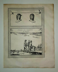 ANTIQUE INDIANS GUIANA ENGRAVING BELLIN 1758 AMERICAN INDIAN FOLKLORE