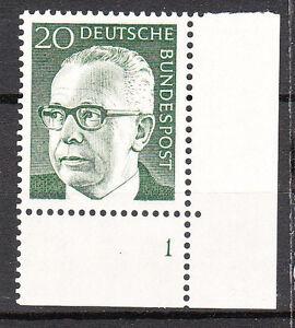 BRD 1970 Mi. Nr. 637 Postfrisch Eckrand 4 Formnummer 1 TOP!!! (9681)