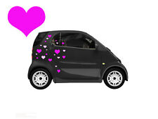 40 HEART DECALS/STICKERS SMART CAR / BEDROOM/ WALL ART / BOAT / CARS / VANS