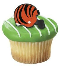 NFL Football Helmet Cupcake Topper Rings - Cincinnati Bengals