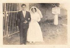 Photo ancienne mariage rég drain -St Laurent  Départementale 154 - 1960