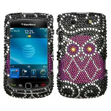 Owl Bling Hard Case Cover BlackBerry Torch 9800