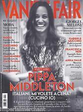 Vanity Fair Magazine Pippa Middleton Giorgia Meloni Gabriele Muccino Anna Valle