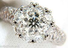 █$13000 3D GILT 2.06CT CLUSTER DIAMOND RING & A+ DESIGN 14KT VS █