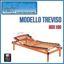 RETE A DOGHE IN LEGNO MANUALE 80X190 SINGOLA IN FAGGIO NATURALE  ORTOPEDICA