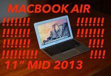 Apple MacBook Air 11.6 Inch Mid 2013 1.3GHz 128gb Flash Storage 4gb Ram