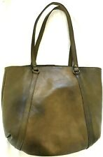 PATRICIA NASH Italian Leather Convertible Tote Olive Green Handbag Purse