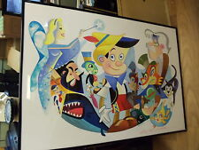 Pinocchio's World Robert de Michiell Framed Limited Ed 76/100 Serigraph Signed
