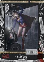 Supergirl II Kara Zor-El Sexy Dark City Var. Signed Comic Print Superman DC Cars