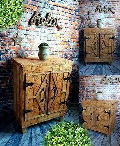 Kommode Sideboard 100%Europaletten Alt Holz Palettenmöbel Regal Vintage RETRO
