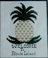 NIP Liberty Crafts Counted Cross Stitch Kit Welcome to Rhode Island  Pineapple