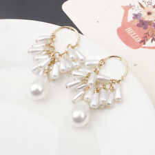 Women Fashion Party Jewelry Lady Elegant Tassel Pearl Ear Stud Earrings