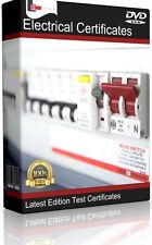 ELECTRICAL TESTING CERTIFICATES, SOFTWARE 17th EDITION EICR 3rd AMENDMENTS 2015