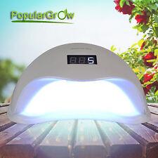 48W Led&UV Nagel Lampe safe Für alle Gels polieren timer Automatische Erkennung