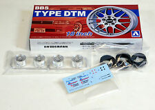 "Aoshima 1/24 BBS Type DTM 18"" Wheel Rims & Tire Set Plastic Models 2426 (03)"