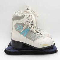 Soft Cameo White Ice Skates Juniors Big Kid Size 2 Lace Up Figure Skating Youth