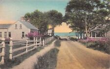 Chatham Cape Cod MA~Dill Street at the Sea~Cottages on Dirt Road~Handcolored PC
