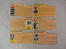 G.I. Joe ~ Lot Of 6 Assorted File Cards ~ 25th Anniversary ~ Hasbro