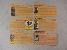 G.I. Joe ~ Lot Of 6 Assorted File Cards ~ 25th Anniversary ~ Hasbro