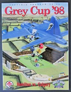 1998 Winnipeg Stadium CFL Football 86th Grey Cup Program Hamilton vs Calgary