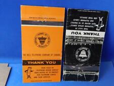 BELL TELEPHONE CANADA REPAIR SERVICE MATCHBOOK LOT VINTAGE ADVERTISING COLLECTOR