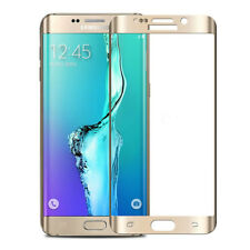 Full Screen Cover Samsung Galaxy S6 Edge Tempered Glass Screen Protector Gold