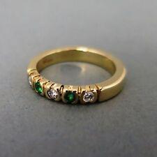 Echte Edelstein-Ringe im Band-Stil aus Gelbgold mit Diamant