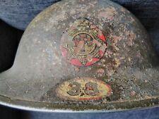 More details for vintage fireman's helmet, nfs wimbledon london blitz 1941 ww2