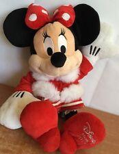 Disney Store Minnie Mouse Plush Exclusive Christmas 2010 Stuffed Animal Santa