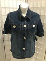 Women's New Baby Phat 1X Cotton Blend Short Sleeve Summer Denim Jacket