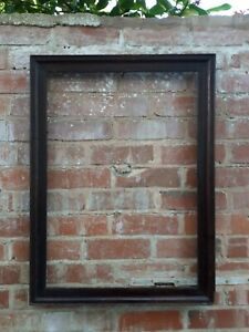 Large Old Wooden Dark Brown Picture Frame