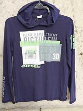Diesel Long Sleeve Cotton Hoodie T-Shirt Top Age 12