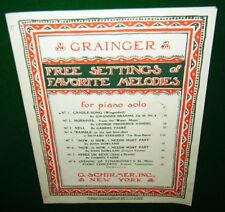 Sheet Music: CRADLE SONG Wiegenlied, Beautiful Brahms Waltz, Piano Solo GRAINGER