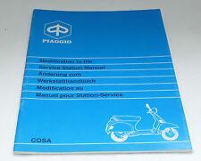 Änderung zum Werkstatthandbuch Vespa Cosa EBC VNR2T VLR2T VSR1T - Piaggio 405457