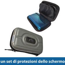 Argento Rigida EVA Custodia per Nintendo 3DS 2011 Case Cover Protezione