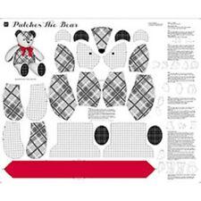 """PANNELLO Patch L'ORSO 36""""x44"""" giocattolo morbido 100% COTONE Sew & GO 26616 K"""
