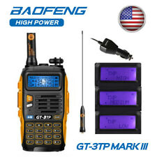 Baofeng GT-3TP Mark III HP V/UHF TRI-POWER 1/4/8W Walkie Talkie Two-way Radio US