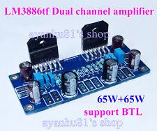 LM3886 65W+65W Stereo Audio Power Amp Board DIY Kits 65W*2 support BTL Module
