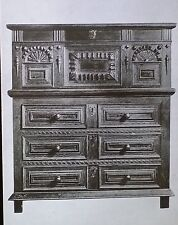 17th c. Jacobean Chest on Drawers, English, Magic Lantern Glass Slide