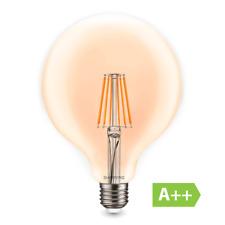 LAMPADA LED EDISON VINTAGE GLOBO FILAMENTO LAMPADINA LUCE CALDA 8W VETRO E27 A+