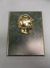 plaque racing helmet relief 7 x 9 green board trophy award