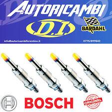 4 Candelette Bosch 0250202132 originali Fiat Punto Multipla Stilo Doblò 1.9 JTD