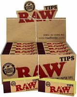 5 Packs of AUTHENTIC RAW Rolling Paper Tips Filter Spacer (50 Sheets per pk)