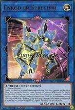 Yu-Gi-Oh! > Enkodier-Sprecher< SDCL-DE041 Ultra Rare deutsch Cyberse Link Encode