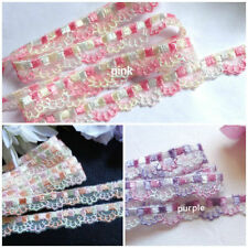 Lace trim ribbon 1/2 inch wide selling by the yard/select color