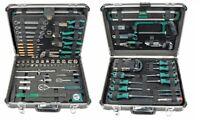 Werkzeugkoffer Werkzeugkasten Werkzeugkiste Alu mit Werkzeug gefüllt 160-tlg.