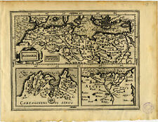 1607 Genuine Antique map of Africa. Barbaria. Tunis. Nile. by Mercator/Hondius