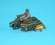 DINKY TOYS #44B AA MOTORCYCLE PATROL SIDECAR FOR SPARES OR RESTORE 1930s MECCANO
