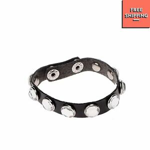 LELLI KELLY Bangle Bracelet Skinny Varnished Effect Rhinestone Embellished