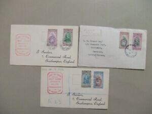 Three 1951 British colonies West Indie University fdc:Barbados,British Honduras,